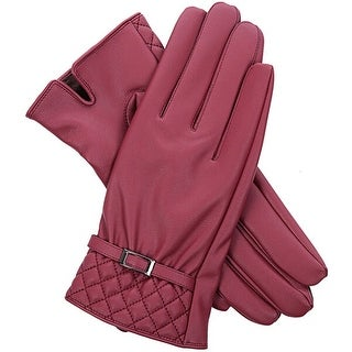 Mad Style No Tips Texting Gloves - Burgundy