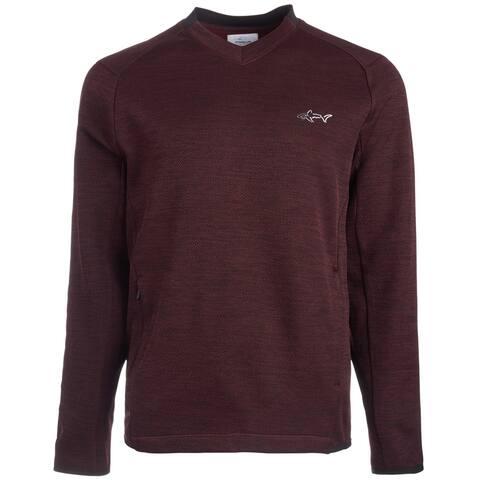 Greg Norman Mens Lightweight Stretch Sweatshirt, Red, Small