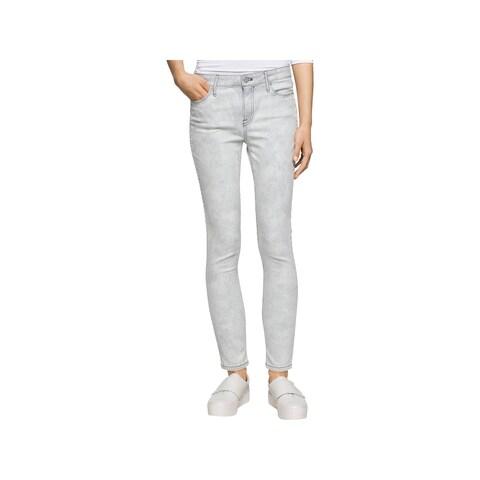Calvin Klein Jeans Womens Juniors Skinny Jeans Denim Ankle