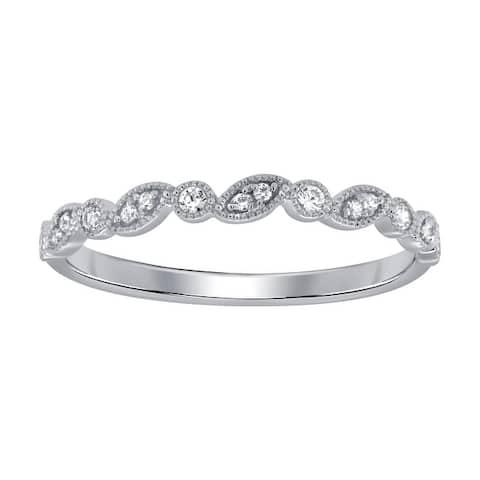 10K White Gold 1/10ct TDW Diamond Bezel-Set Ring (I-J, I1)
