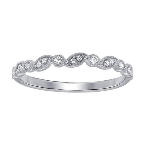 14K White Gold 1/10ct TDW Diamond Bezel-Set Ring (I-J, I1)