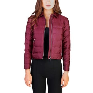Prada Women's Nylon Puffer Down Jacket Maroon - 4