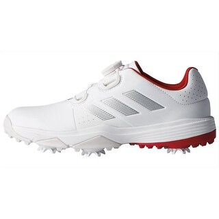 Adidas Junior Adipower BOA Cloud White/Silver Metallic/Scarlet Golf Shoes F33611