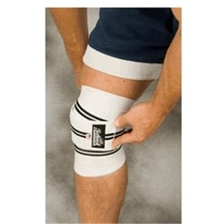 78 in. Schiek Heavy Duty Knee Wraps - White