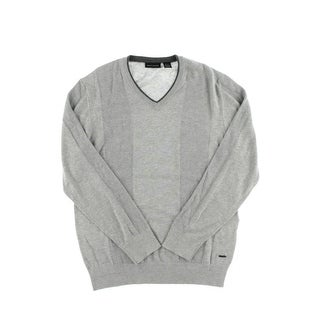 DKNY Jeans Mens Knit Contrast Trim Pullover Sweater