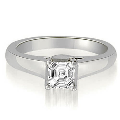 0.80 cttw. 14K White Gold Lucida Princess Diamond Engagement Ring