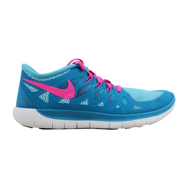 9d5615cbc48b Nike Free 5.0 Blue Lagoon Pink Power-White-Volt 644446-401 Grade. Click to  Zoom