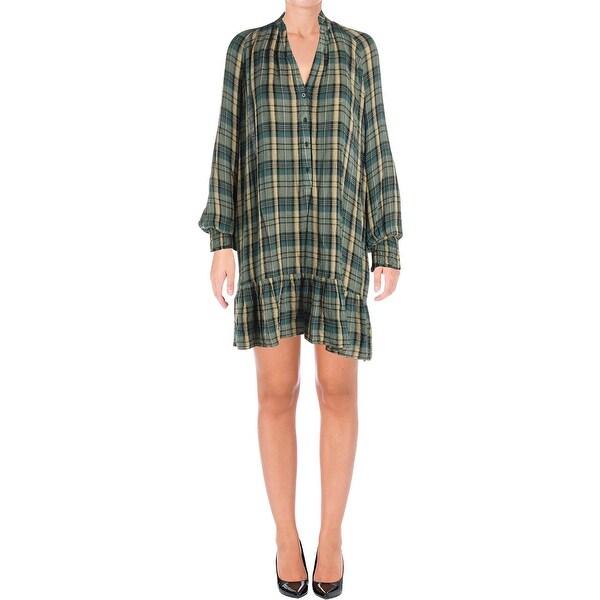 6059078e7a Shop Free People Womens Shirtdress Long Sleeves Mini - On Sale ...