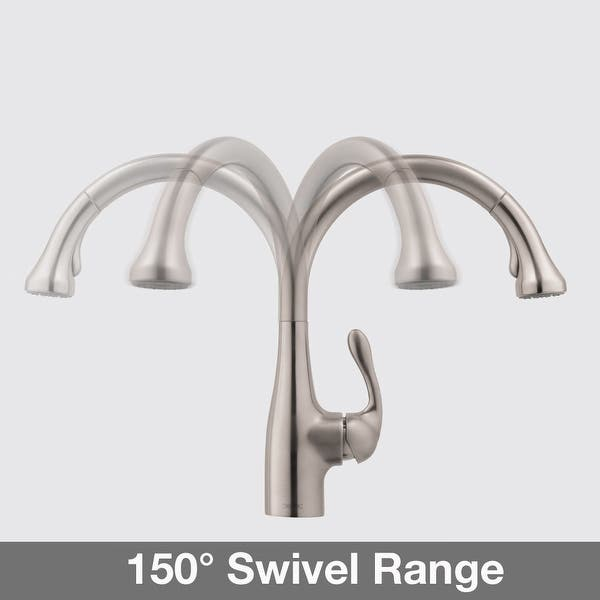 Hansgrohe 06460 Allegro E Pull Down Kitchen Faucet With High Arc Overstock 17224917