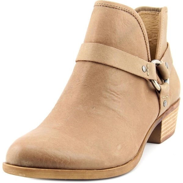Lucky Brand Bashira Women Round Toe Leather Tan Ankle Boot