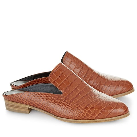 Robert Clergerie Brown Amber Alice K Mules Size 5