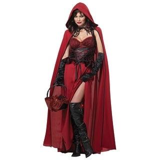 Plus Size Dark Red Riding Hood