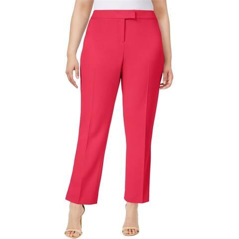 Anne Klein Womens Straight-Leg Casual Trouser Pants