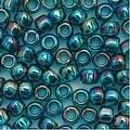Toho Round Seed Beads 6/0 167BD 'Transparent Rainbow Teal' 8 Gram Tube - Thumbnail 0