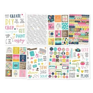 "Crafty Girl Stickers 4""X6"" 8/Pkg-"