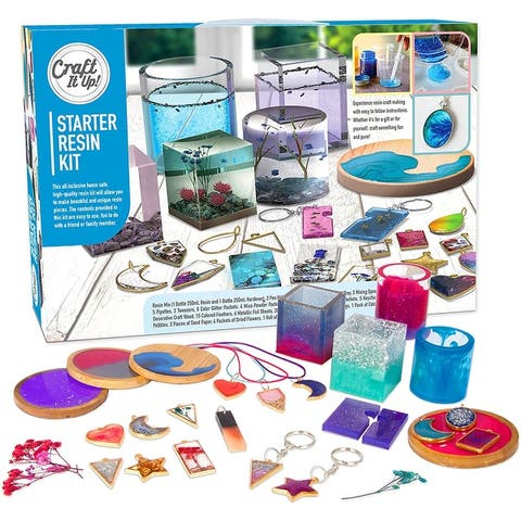 Resin Kit by Craft It Up Complete Starter Jewelry Kit for Beginners