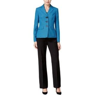 Le Suit Womens Pant Suit 2PC Patterned - 8
