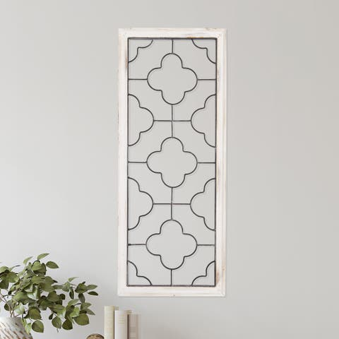 Hastings Home Metal and Wood Clover Wall Panel