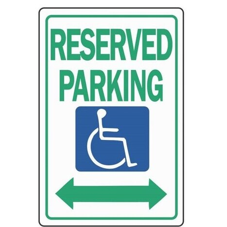 "Hy-Ko HW-32 Handicap Reserved Parking Highway Sign, 12"" x 18"""