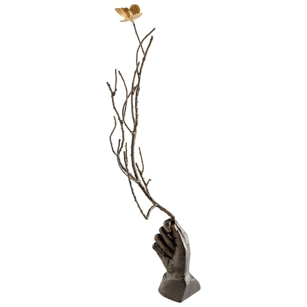 Cyan Design 09572 Dorothy Iron Butterfly Statue - Rustic Bronze
