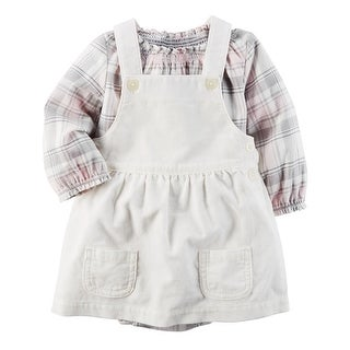 Carter's Baby Girls' 2-Piece Plaid Bodysuit & Corduroy Skirtall Set, 3 Months