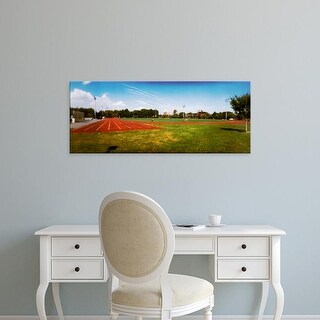 Easy Art Prints Panoramic Images's 'Running track, McCarren Park, Greenpoint, Brooklyn, New York City' Canvas Art