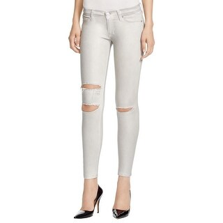 Hudson Womens Krista Skinny Jeans Metallic Destroyed