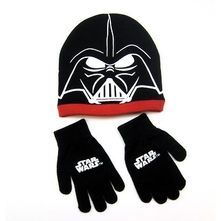 Beanie Star Wars Vader Big Face & Gloves set