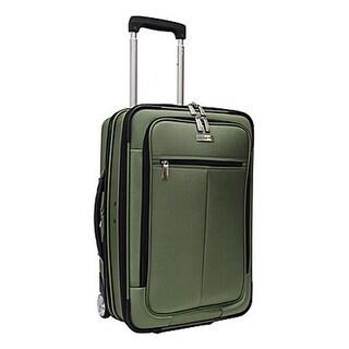 Travelers Choice Siena 21-inch Hybrid Hard-shell    -Green Rolling Garment Bag / Upright