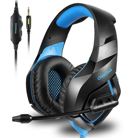 ONIKUMA Stereo Gaming Headset Over Ears Headset With Noise Canceling Microphone