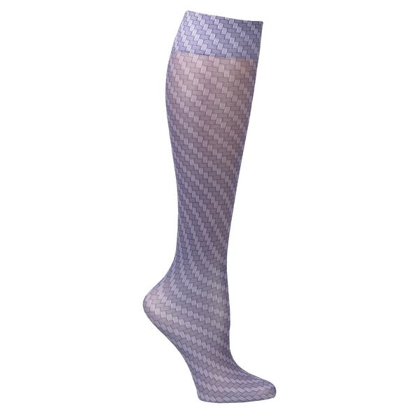 Celeste Stein Mild Compression Knee High Stockings, Wide Calf - Carbon Fiber - Medium