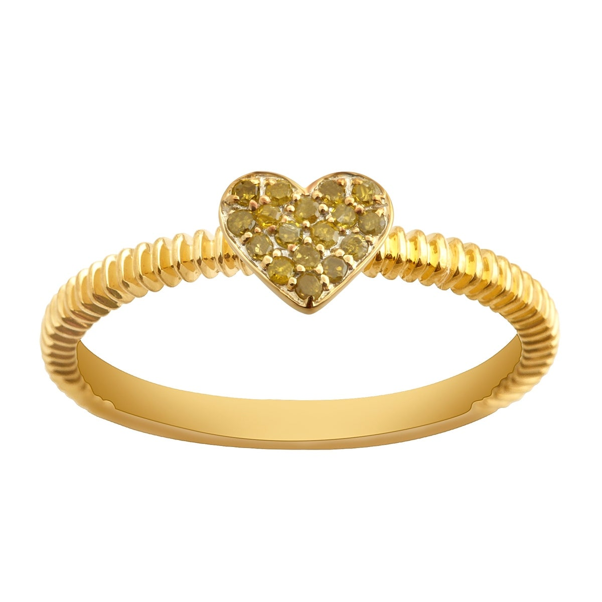 Prism Jewel Round Yellow Diamond Heart Shape Valentine Ring - Thumbnail 0