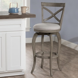 Link to The Gray Barn Chatterly Aged Grey Swivel Counter-height Stool Similar Items in Dining Room & Bar Furniture