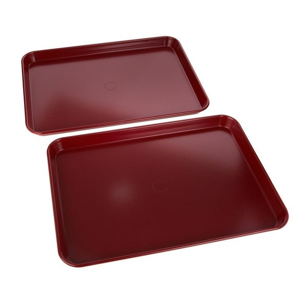 Curtis Stone Dura-Bake® Set of 2 Sheet Pans Red. Opens flyout.