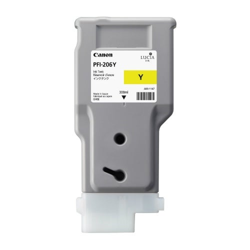 """Canon PFI-206Y Ink Cartridge - Yellow Pigment Ink Cartridge 300ml"""