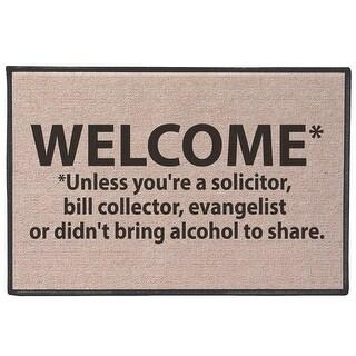 "Welcome Doormat - Unless You're a Solicitor, etc - Funny Door Mat - Standard Size - 27"" x 18"""
