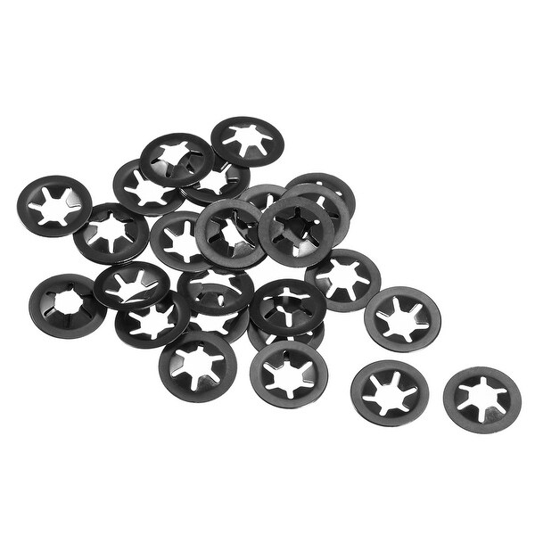 Starlock Washers , M6x16 Internal Tooth Clips Fasteners Kit , Pack of 30 - M6x16,30pcs