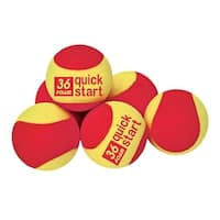 Oncourt Offcourt Quick Start 36 Foam Tennis Balls, Ages 5 to 8, Pack of 12