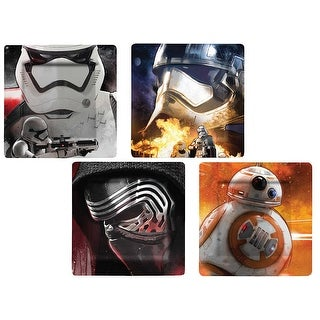 Star Wars: The Force Awakens Melamine Plate Set, 4 Pieces - Multi