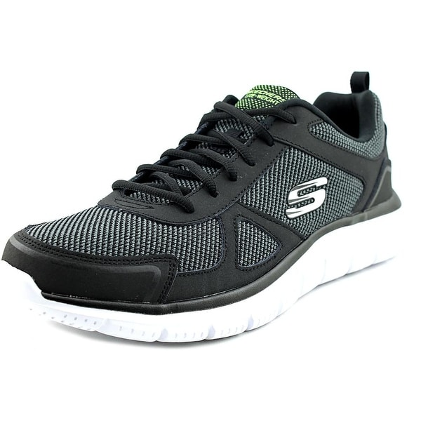Skechers Track-Bucolo Men Round Toe Synthetic Black Walking Shoe