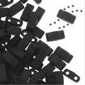Miyuki Half Tila 2 Hole Rectangle Beads 5x2.3mm - Matte Black 7.8 Grams - Thumbnail 0