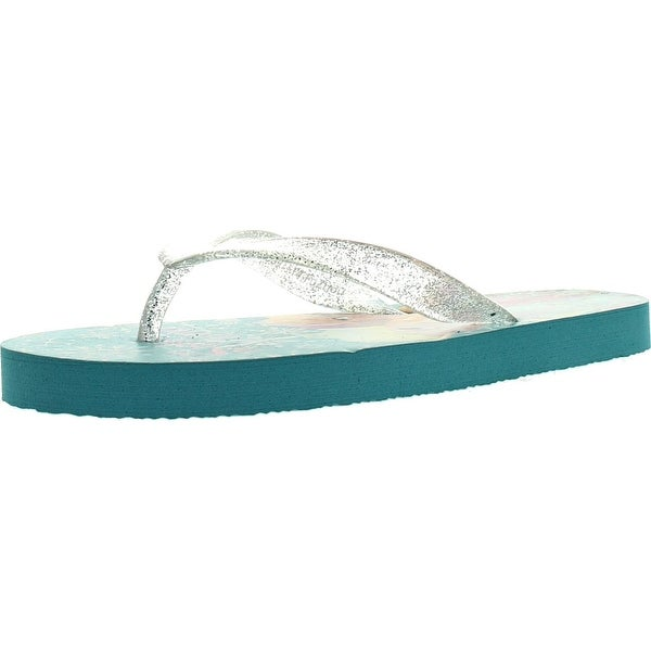 Disney Girls Frs103 Frozen Fashion Flip Flop Sandals - Blue