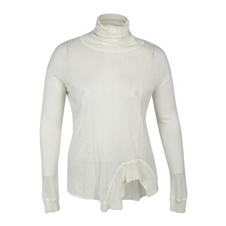 Rachel Roy Women's Long Sleeve Turtle Neck Sweater Top - White - xL