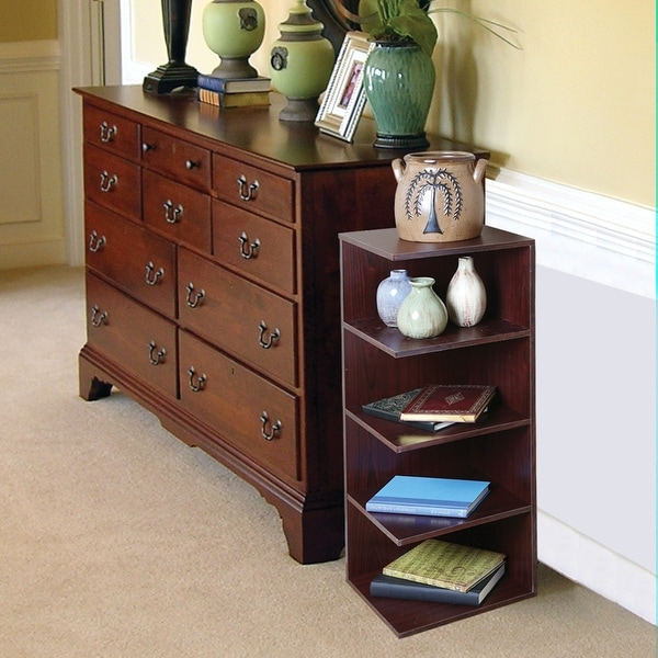 Reader's Corner Shelf - Mahogany Stand - 12 in. x 12 in. x 32 in.