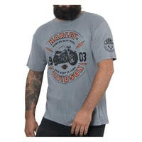 Harley-Davidson Men's Primo Premium Short Sleeve T-Shirt, Stone Gray Wash