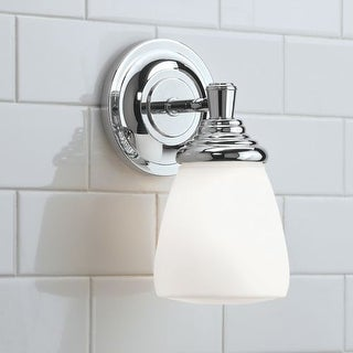 "Norwell Lighting 9621 Maison 10"" Tall Single Light Bathroom Sconce with White Glass Shade"