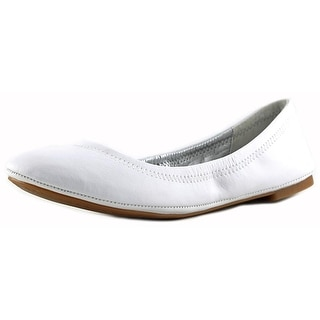 Lucky Brand Emmie Women Round Toe Leather White Ballet Flats