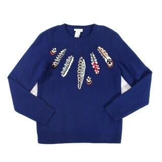 Paul & Joe NEW Blue Mens Size Large L Crewneck Wool Pullover Sweater