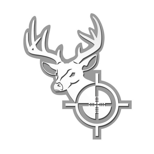 Pilot Automotive Deer Head Stainless Steel Emblem