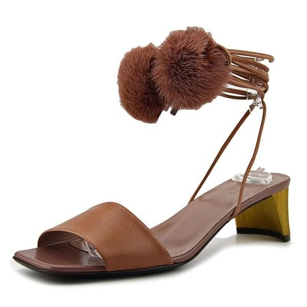 6dde2ac9e93b59 Shop Gucci Betis Glamour Visone Open Toe Leather Sandals - Free ...